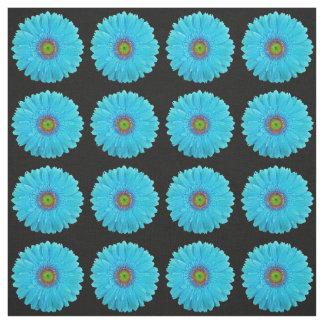 Tela de la margarita del Gerbera de las azules Telas