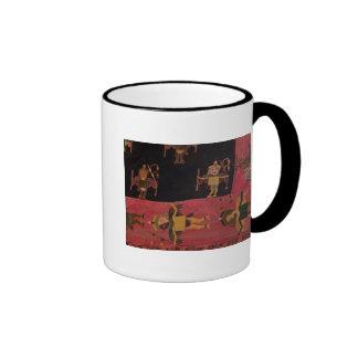 Tela de lana taza de café