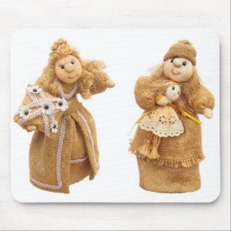 Tela de las muñecas tapete de raton