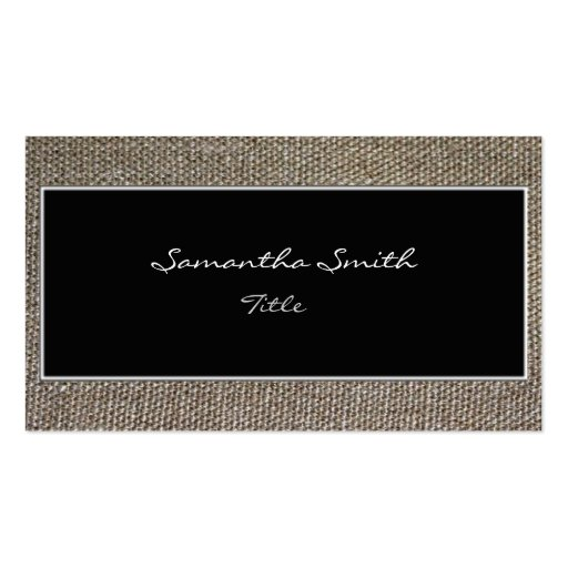 Tela de lino - tarjeta de visita elegante ecológic