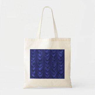 Tela de satén del azul de cobalto con textura horn bolsas de mano
