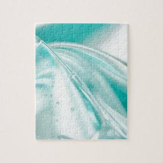 tela de seda del modelo de la turquesa de los azul puzzles con fotos