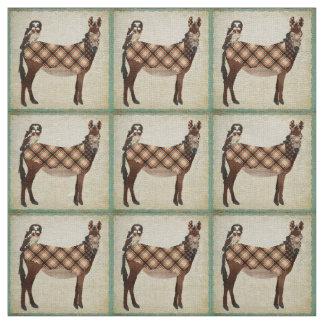 Tela del burro y del búho de la tela escocesa telas