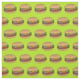 tela del diseño de la hamburguesa telas