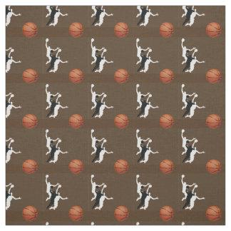 Tela del diseño del baloncesto telas