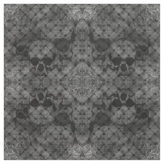 Tela del gótico de los cráneos del damasco de la telas