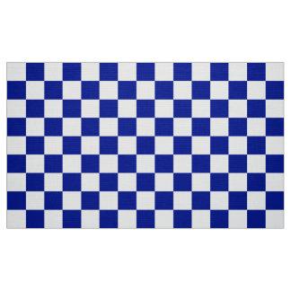 Tela del modelo del tablero de damas del azul real telas