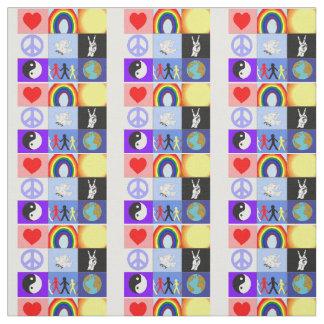 """tela del mosaico del peaceloveunity (56"""" anchura) telas"""