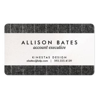 Tela del negro de la pizarra del tweed de la tela tarjetas de visita