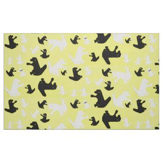 Tela del perro amarillo de la taza de la telas