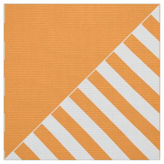Tela del popelín, naranja y tejas impresos del telas