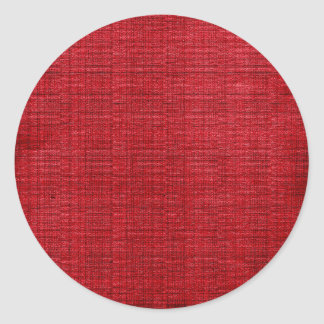 Tela del rojo rico pegatina redonda