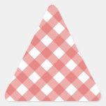 Tela escocesa 1 Pimienta Pegatina Triangular