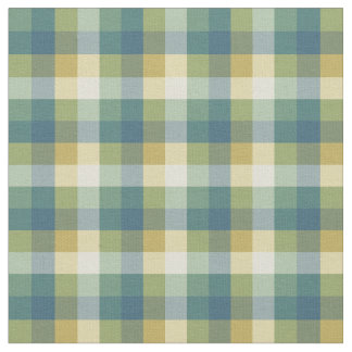 Tela escocesa a cuadros verde, azul y amarilla telas