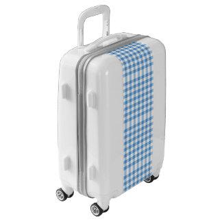 Tela escocesa airosa de la guinga de los azules maletas