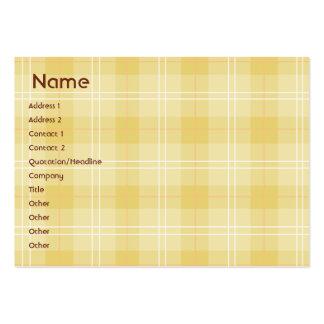 Tela escocesa amarilla - rechoncha tarjetas de visita grandes