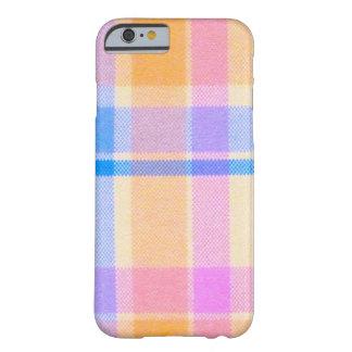 tela escocesa amarilla y rosada funda de iPhone 6 barely there