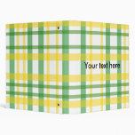 Tela escocesa amarilla y verde retra en blanco
