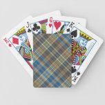 Tela escocesa anaranjada azul cartas de juego
