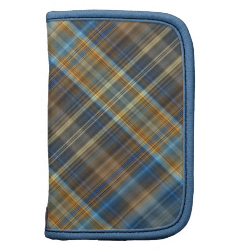 Tela escocesa anaranjada azul planificadores