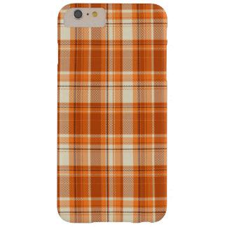 Tela escocesa anaranjada funda barely there iPhone 6 plus