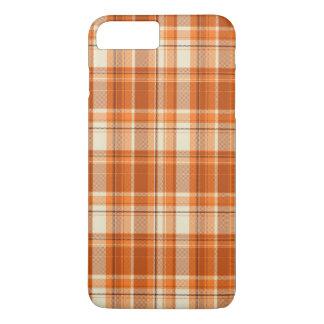 Tela escocesa anaranjada funda iPhone 7 plus