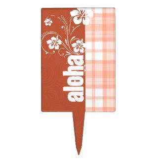 Tela escocesa anaranjada linda; Hawaiana Decoración Para Tarta