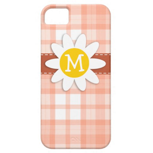 Tela escocesa anaranjada linda; Margarita iPhone 5 Funda