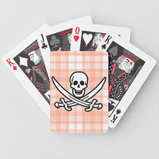 Tela escocesa anaranjada linda Rogelio alegre Baraja Cartas De Poker