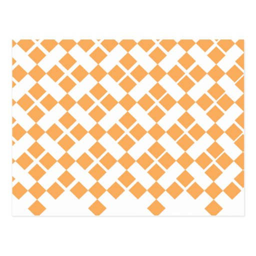 Tela escocesa anaranjada tarjeta postal