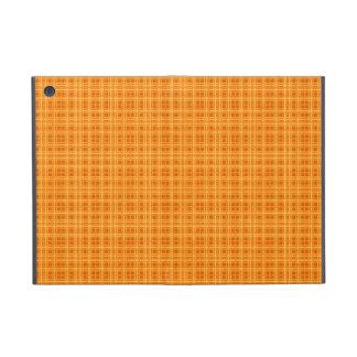 Tela escocesa anaranjada y amarilla iPad mini carcasas