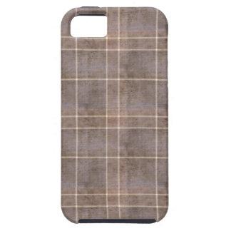 Tela escocesa apenada de Brown Funda Para iPhone 5 Tough