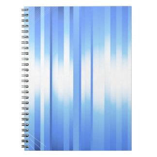 Tela escocesa azul clara libreta