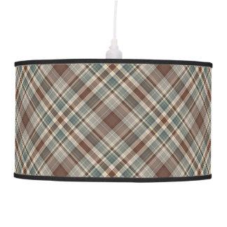 Tela escocesa azul clara y del cervatillo lámpara de techo