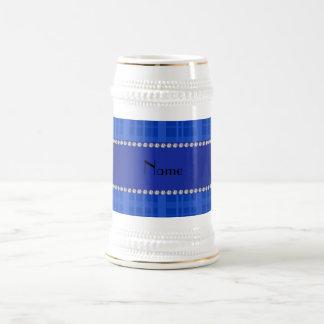 Tela escocesa azul conocida personalizada taza de café