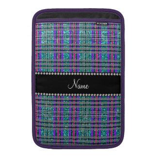 Tela escocesa azul de la púrpura del rosa del funda  MacBook