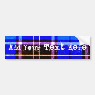 Tela escocesa azul de neón, punk no muerto etiqueta de parachoque