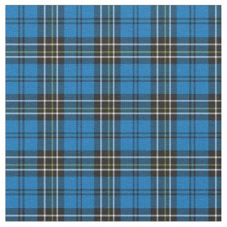 Tela escocesa azul del vintage telas