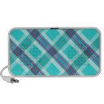 Tela escocesa azul fresca mp3 altavoz