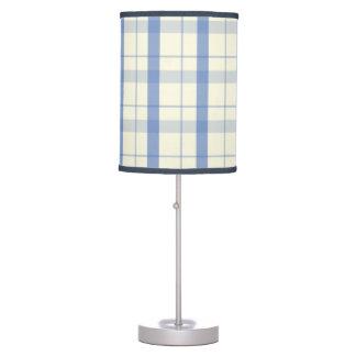 Tela escocesa azul lámpara de mesa