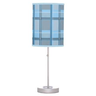 Tela escocesa azul lámpara de mesilla de noche