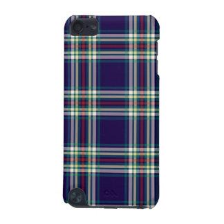 Tela escocesa azul marino del vintage funda para iPod touch 5G