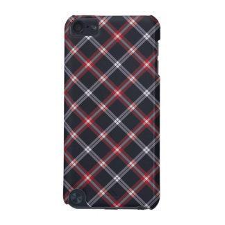 Tela escocesa azul marino funda para iPod touch 5G