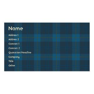 Tela escocesa azul - negocio plantilla de tarjeta de negocio