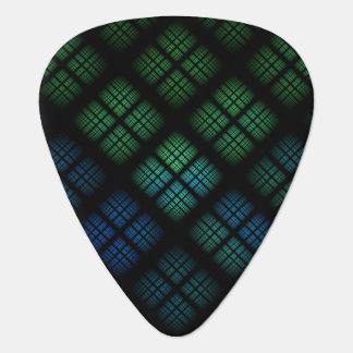 Tela escocesa azul uñeta de guitarra