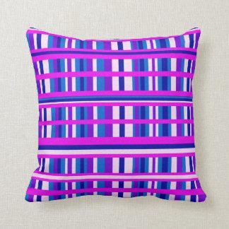 Tela escocesa azul púrpura rosada almohadas