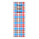 Tela escocesa azul roja blanca marrón retra tarjetas de visita mini