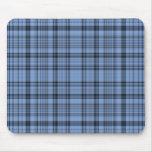 Tela escocesa azul y gris Mousepad del Cornflower
