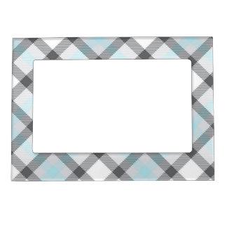 Tela escocesa azul y gris sutil marcos magneticos