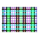 Tela escocesa azul y rosada verde clara moderna invitación 12,7 x 17,8 cm